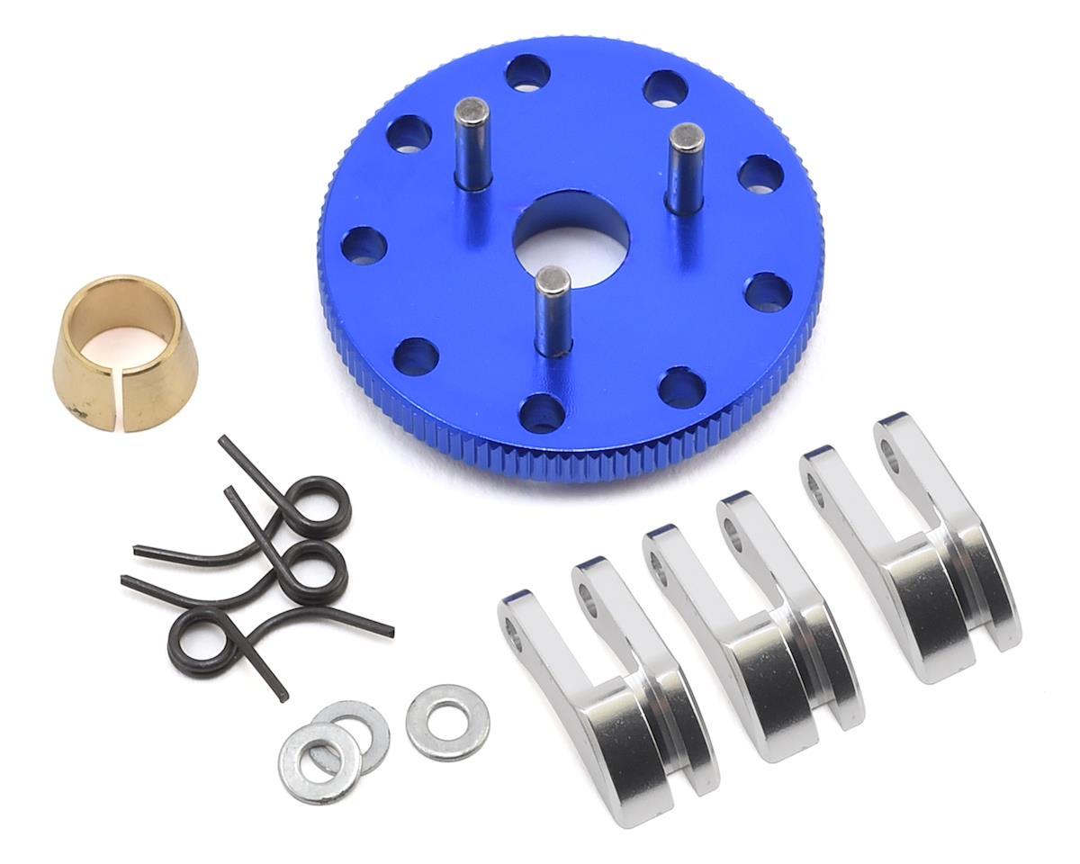 Hot Racing Traxxas Nitro Rustler Light Weight 3-Shoe Clutch & Flywheel Kit (Blue)
