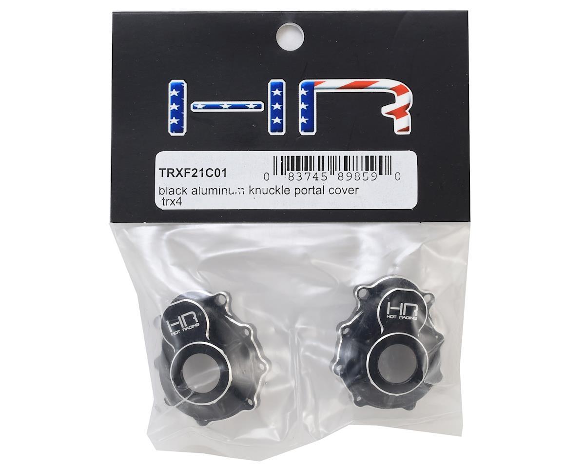 Hot Racing Traxxas TRX-4 Aluminum Outer Portal Drive Housing (Black) (2)