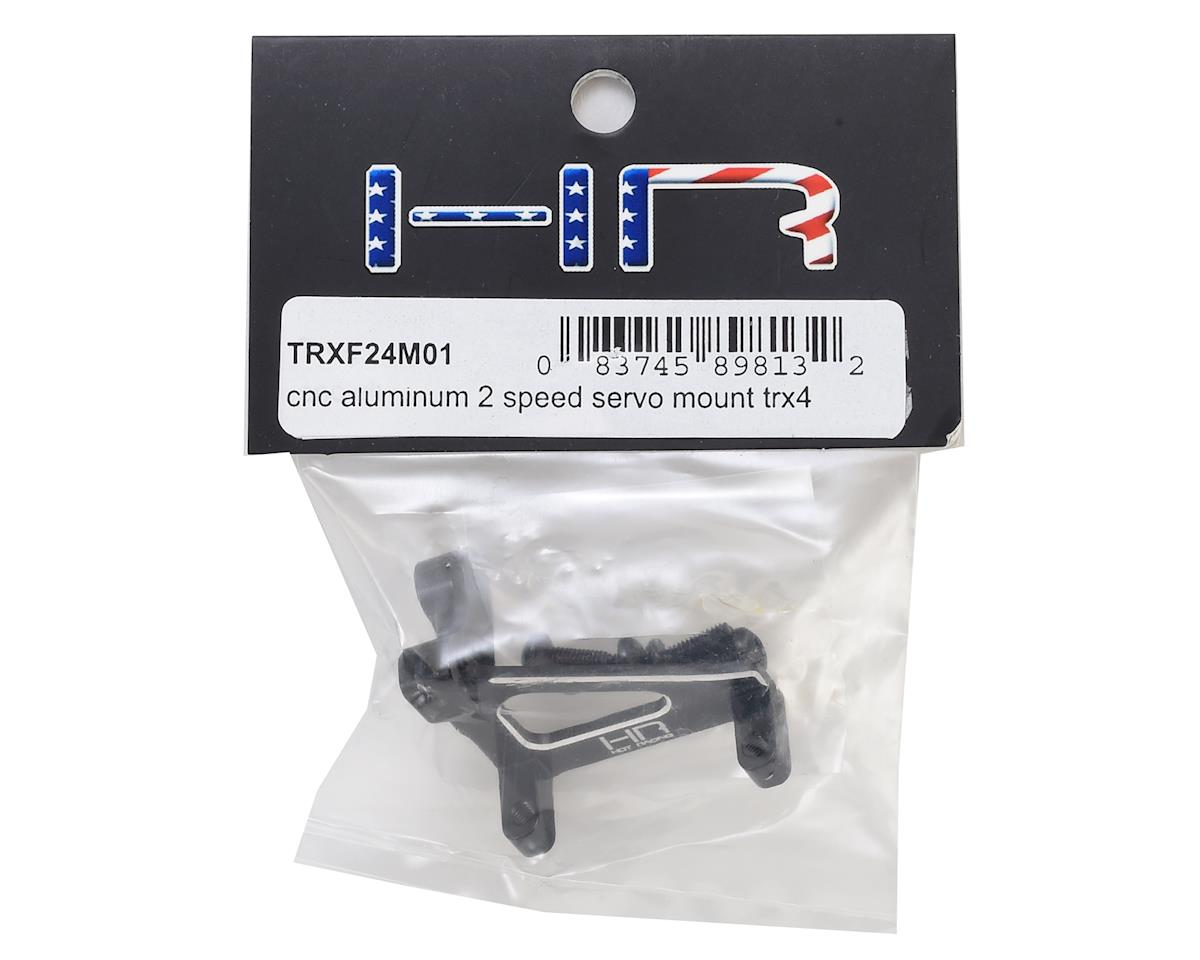 Hot Racing Traxxas TRX-4 Aluminum 2 Speed Servo Mount (Black)