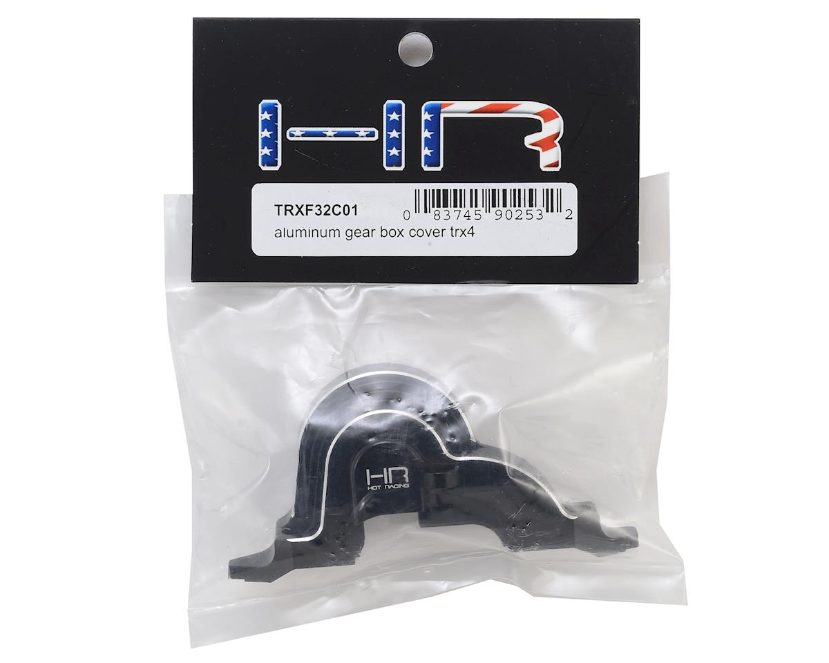 Hot Racing Traxxas TRX-4 Aluminum Gear Box Cover (Black)