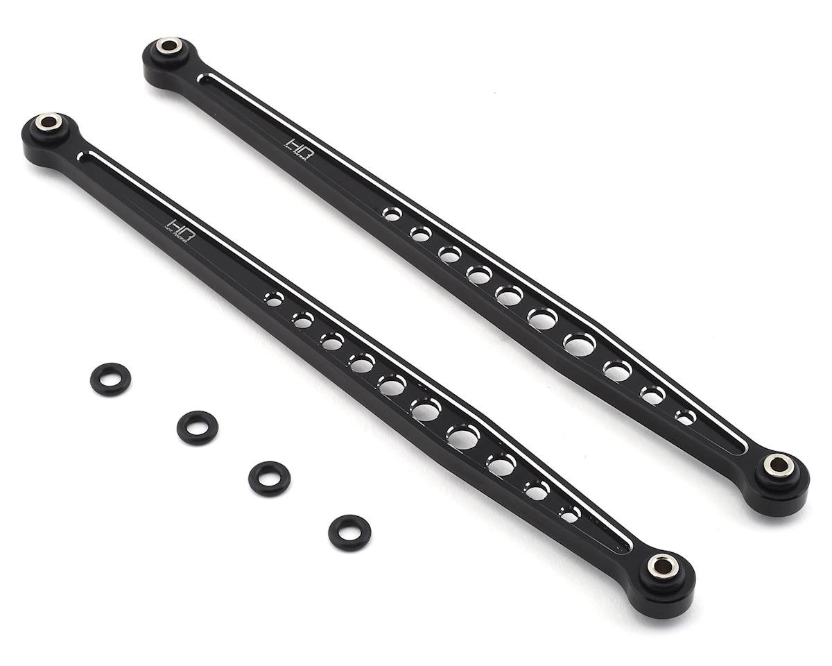 Hot Racing Traxxas Unlimited Desert Racer Aluminum Rear Upper Arms (Black)
