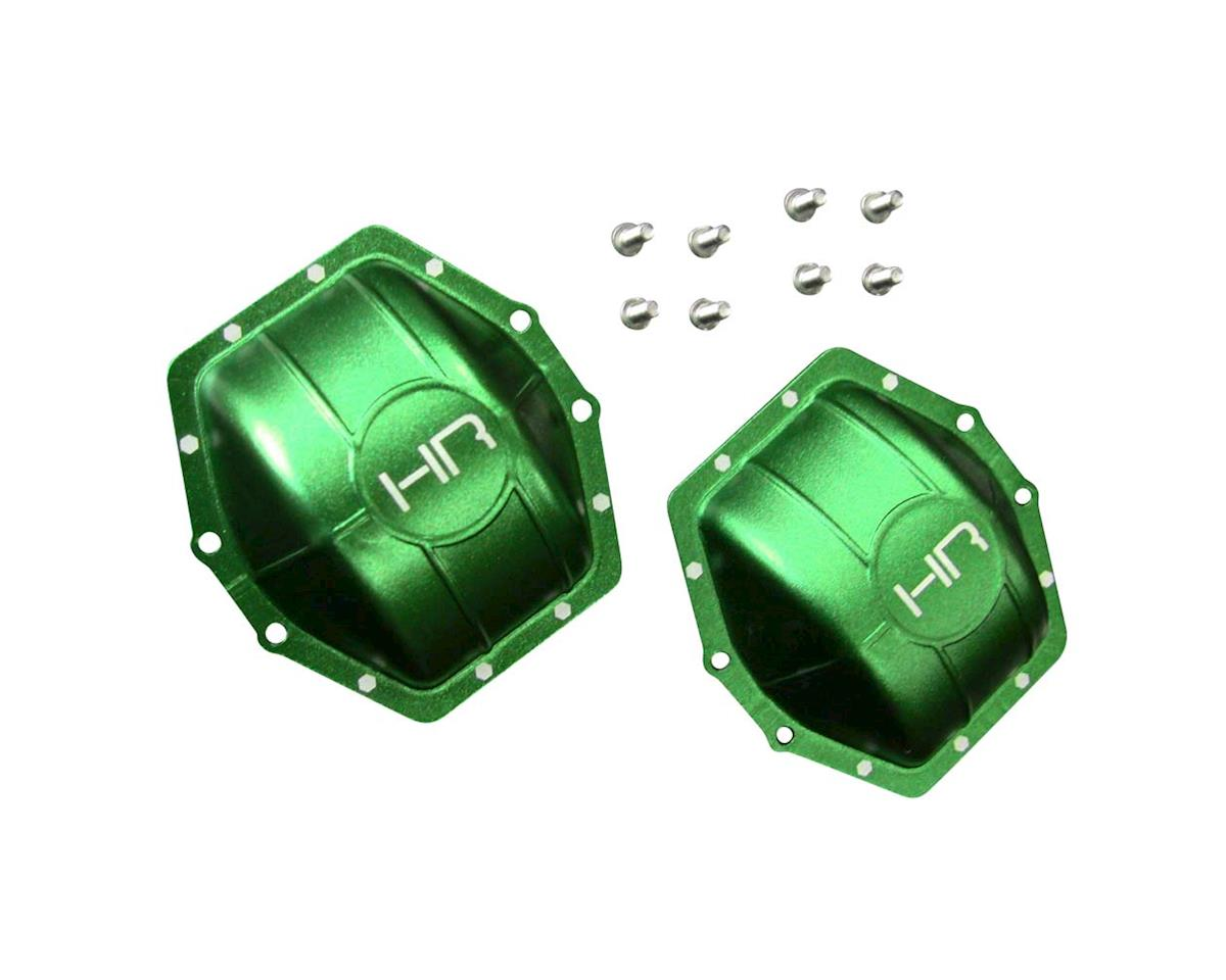Hot Racing Aluminum AR60 Axle Diff Covers Green Yeti Wrai