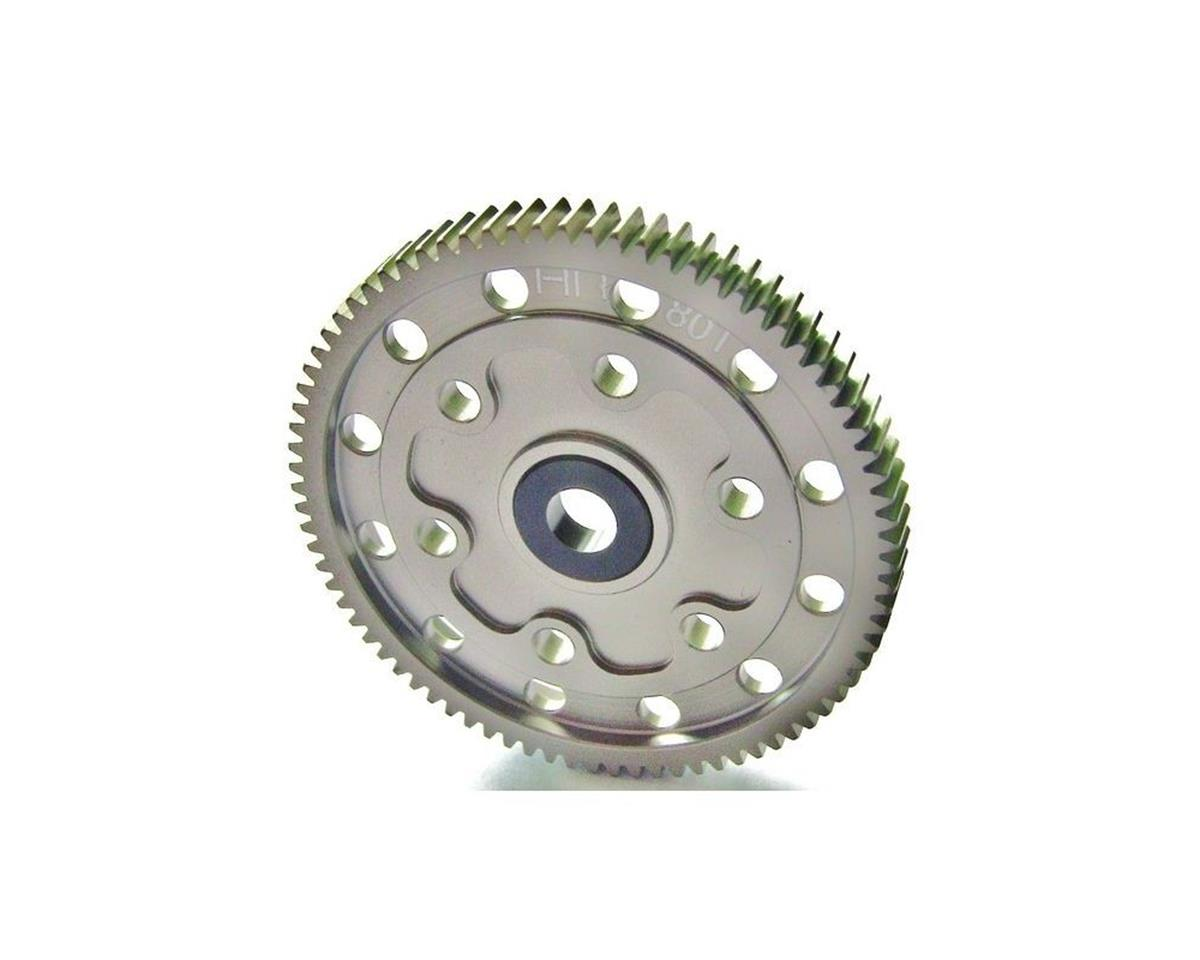 Hot Racing Hard Anodized Aluminum Spur Gear 80T