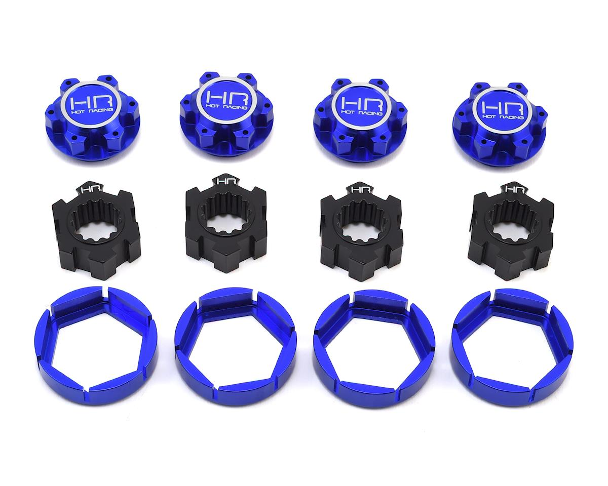 Hot Racing Traxxas X-Maxx Aluminum Locking 24mm Hex Hub Wheel Set (Blue)