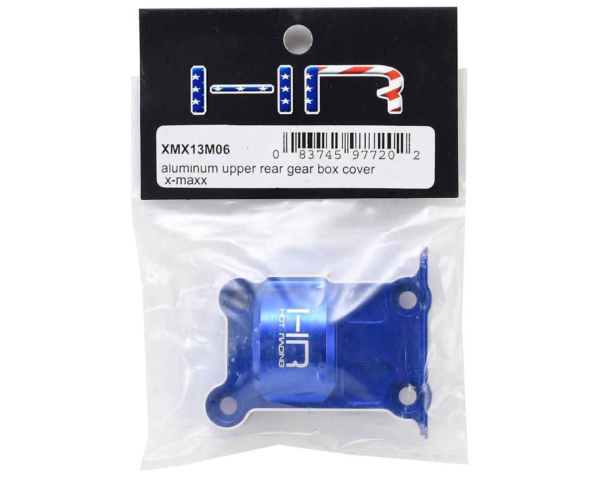 Hot Racing Traxxas X-Maxx Aluminum Upper Rear Gear Box Cover (Blue)