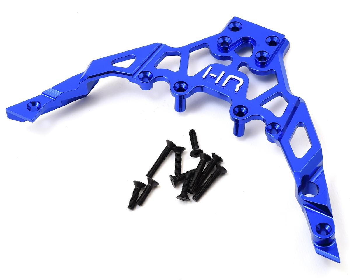 Axial Yeti Aluminum Front Upper Chassis Bulkhead Clip (Blue) by Hot Racing