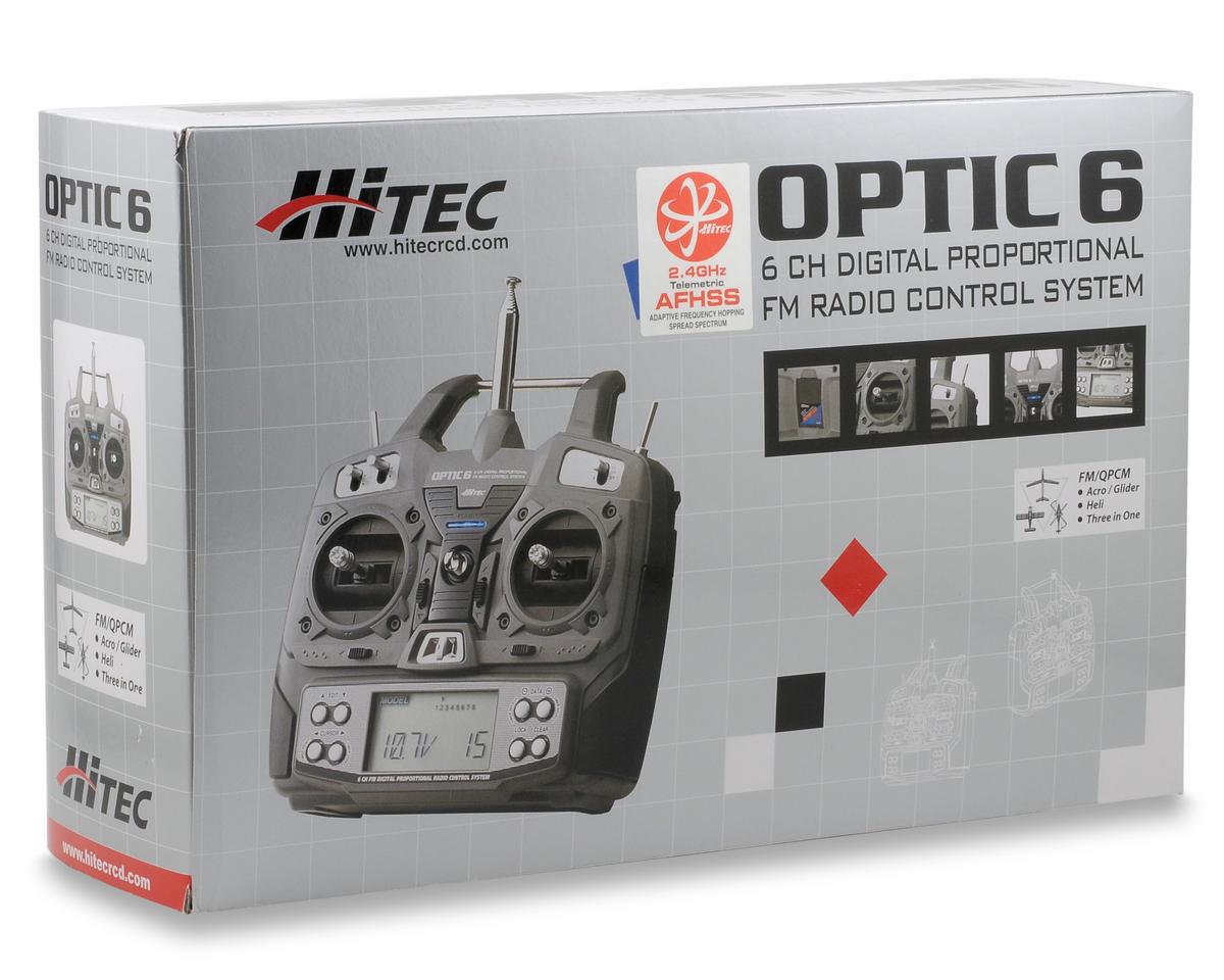 Hitec Optic 6 2 4GHz Aircraft Radio System w/2 Optima 7 Receivers (No  Servos)