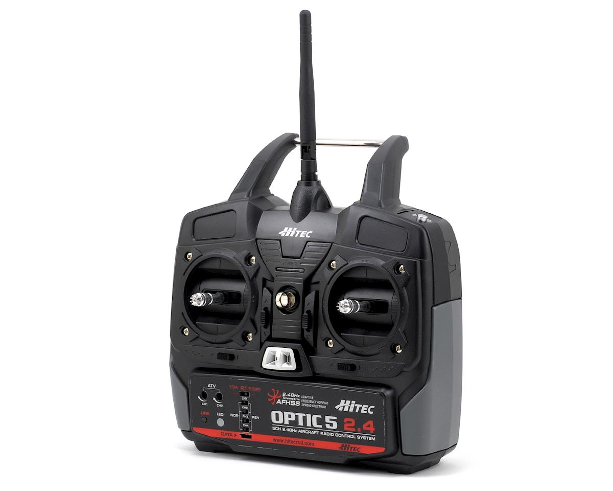 Optic 5 5-Channel 2.4GHz Airplane Transmitter w/Minima 6T Receiver by Hitec