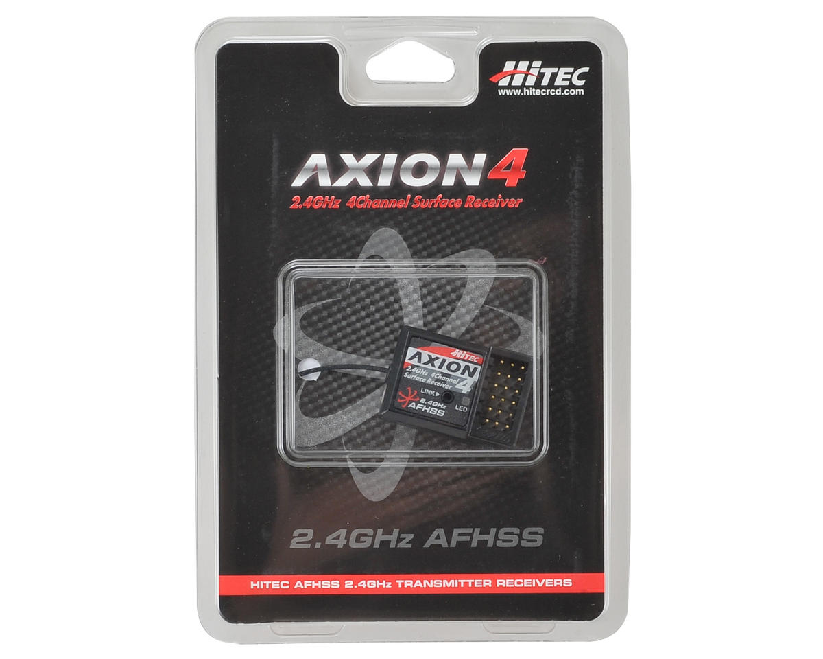 "Hitec ""Axion 4"" 4-Channel 2.4GHz High Response Receiver"