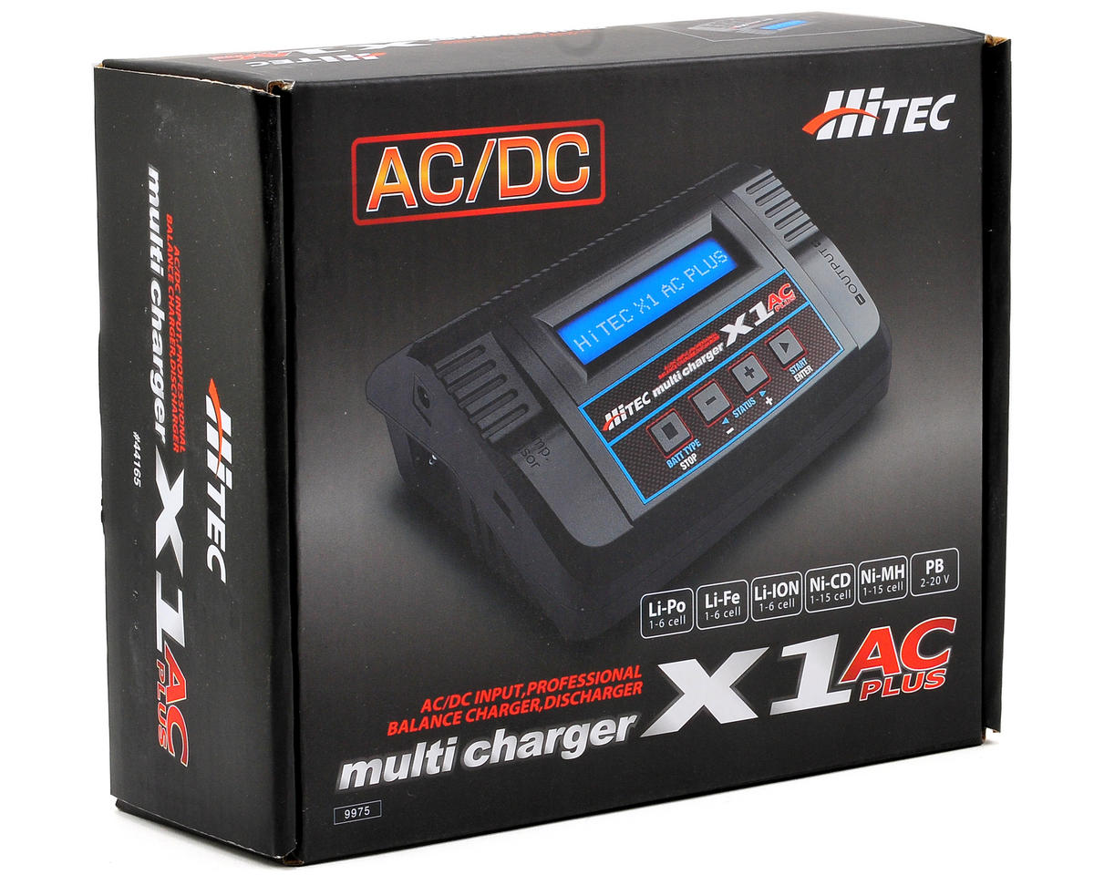 Hitec X1+ AC Plus Single Port AC/DC Multi-Charger (6S/6A/50W)