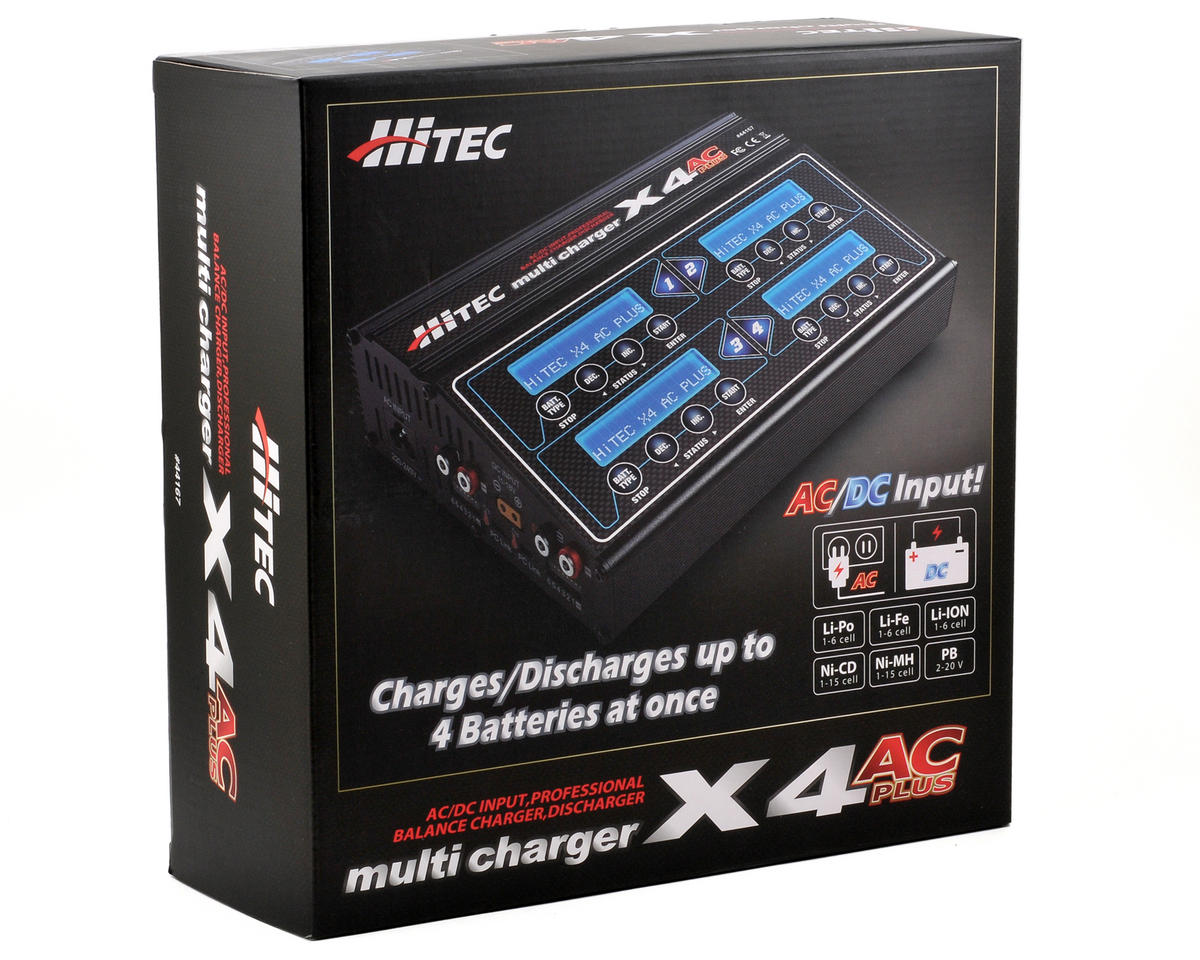 Hitec X4 AC Plus Four-Channel AC/DC Multi-Charger (6S/6A/50W x 4)