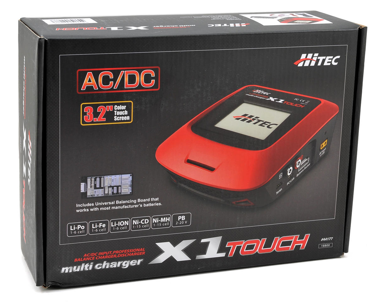 Hitec X1 Touch AC/DC Multi-Chemistry Charger (6S/7A/55W)