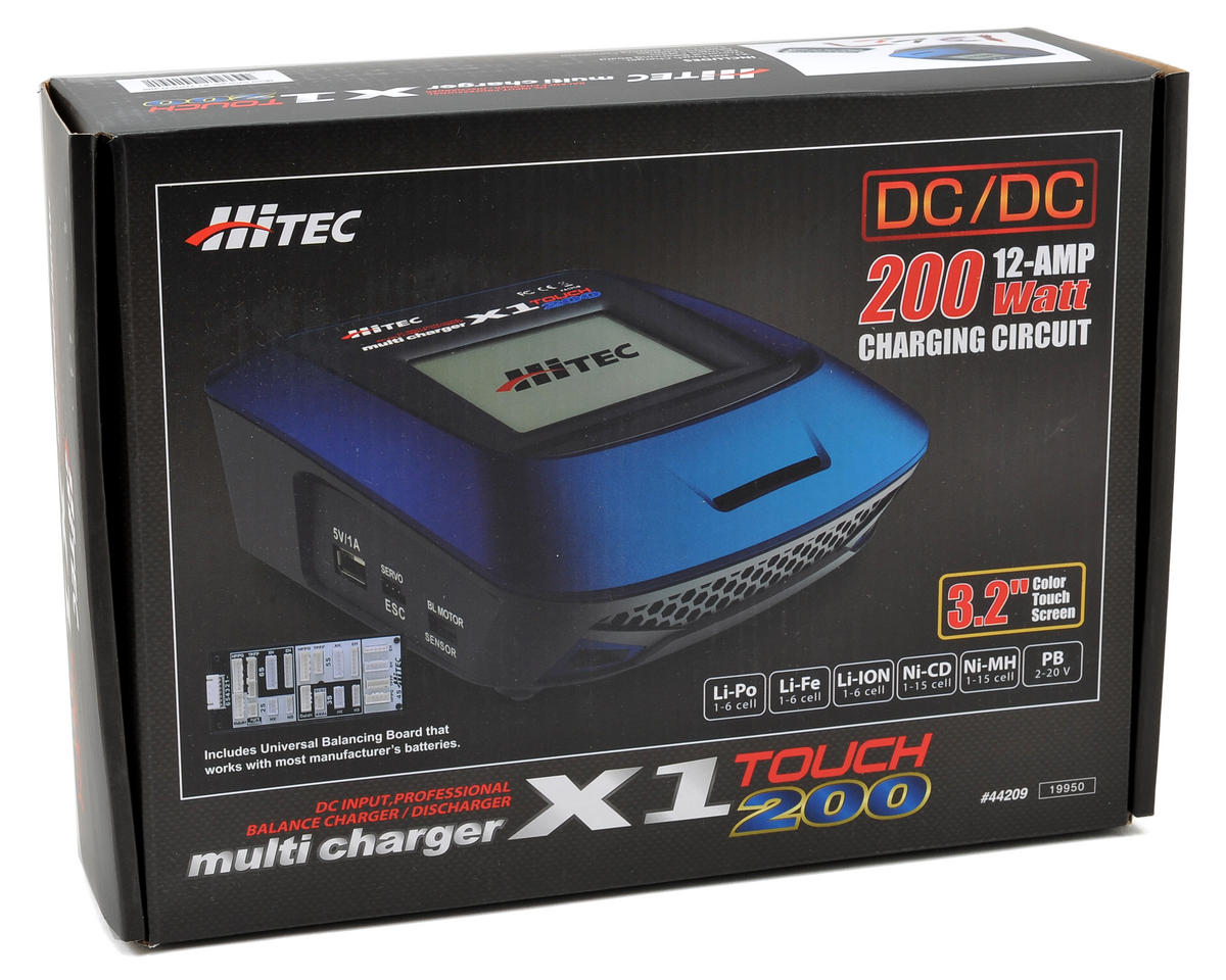 Hitec X1 Touch 200 DC Charger (6S/12A/200W)