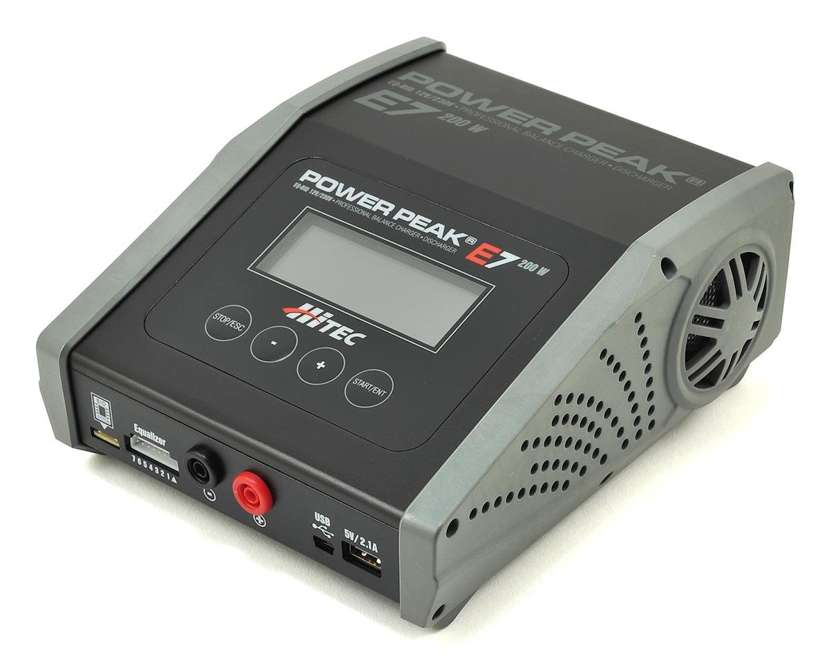 Hitec Power Peak E7 LiPo/LiHV/NiMH Battery Balance Charger (7S/20A/200W)