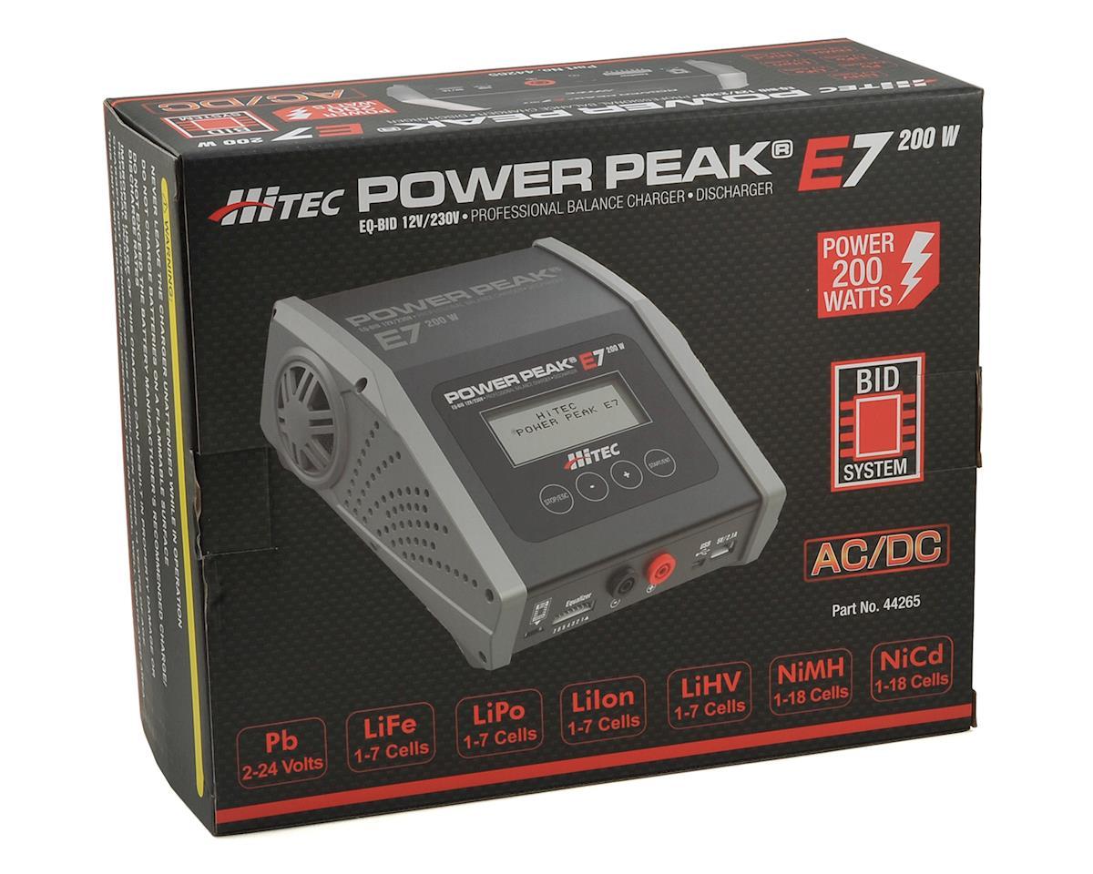Hitec Power Peak E7 Lipo Lihv Nimh Battery Balance Charger 7s 20a Balancer Seven Segments 200w Hrc44265 Cars Trucks Amain Hobbies