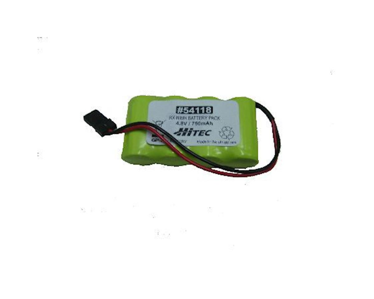 Hitec Receiver NiMH Battery Pack, Flat, 750mAh