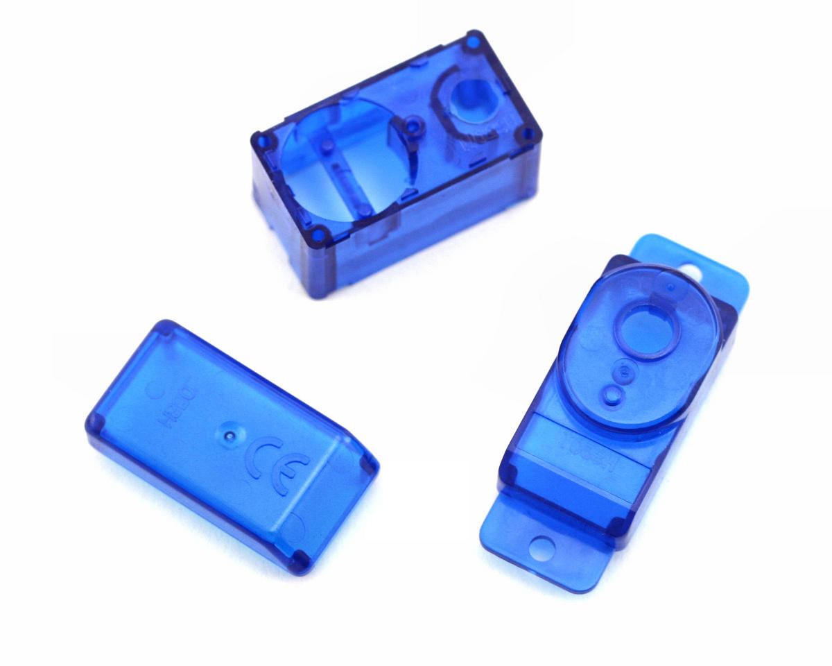 Hitec HS-50 Servo Case Set (Clear Blue)