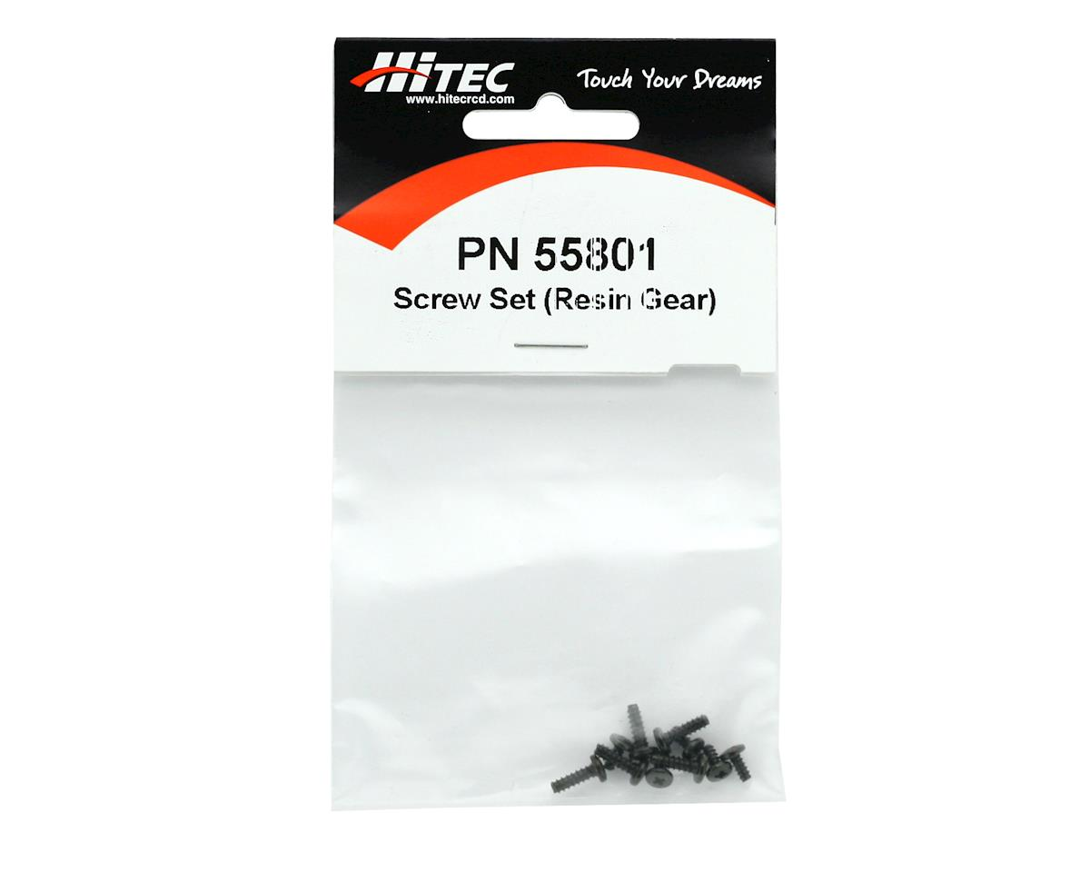 Hitec Replacement Screw Set, Resin Gear Horn (81,700Bb)