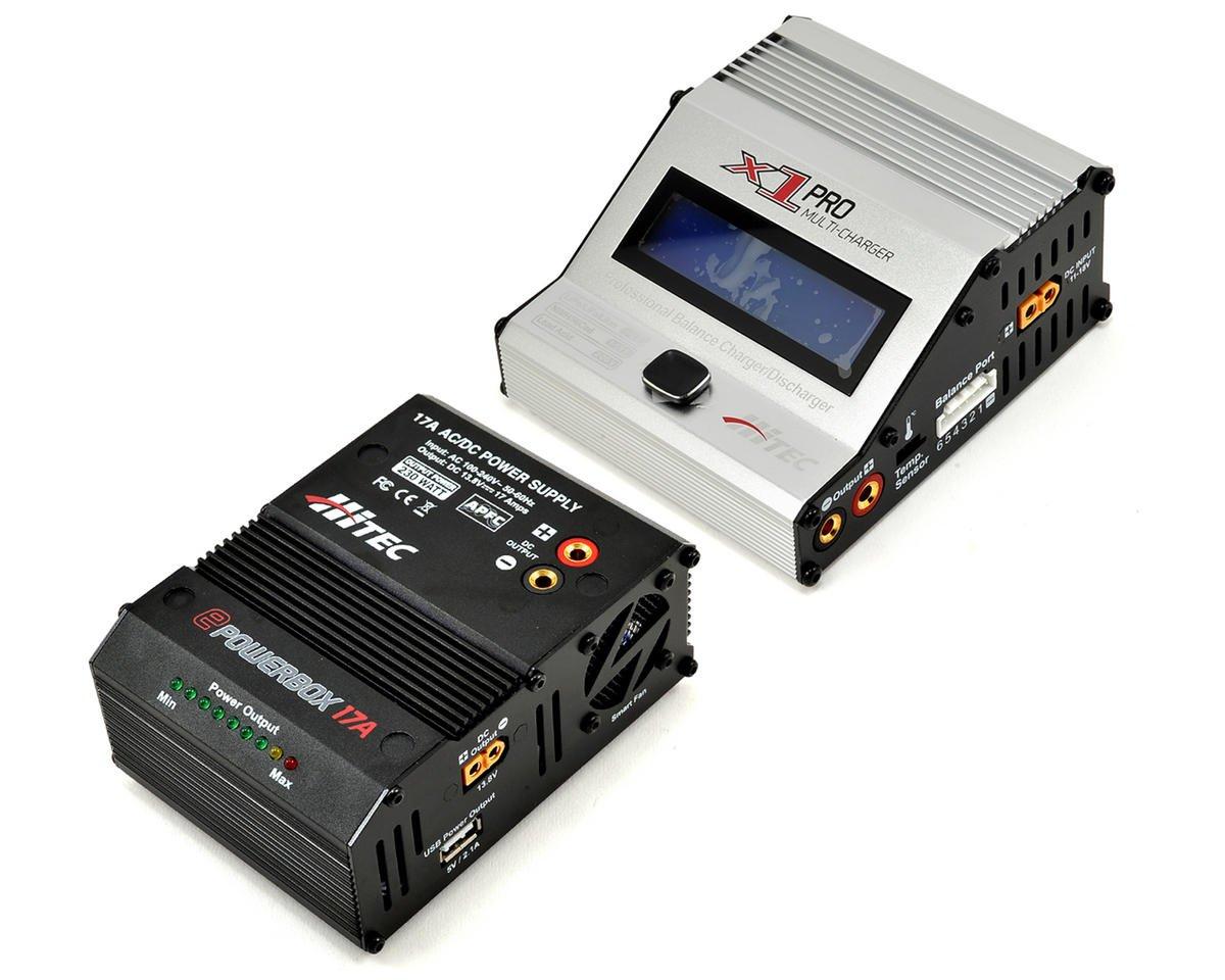Hitec X1 Pro DC Multi-Charger & ePowerbox 17 Combo