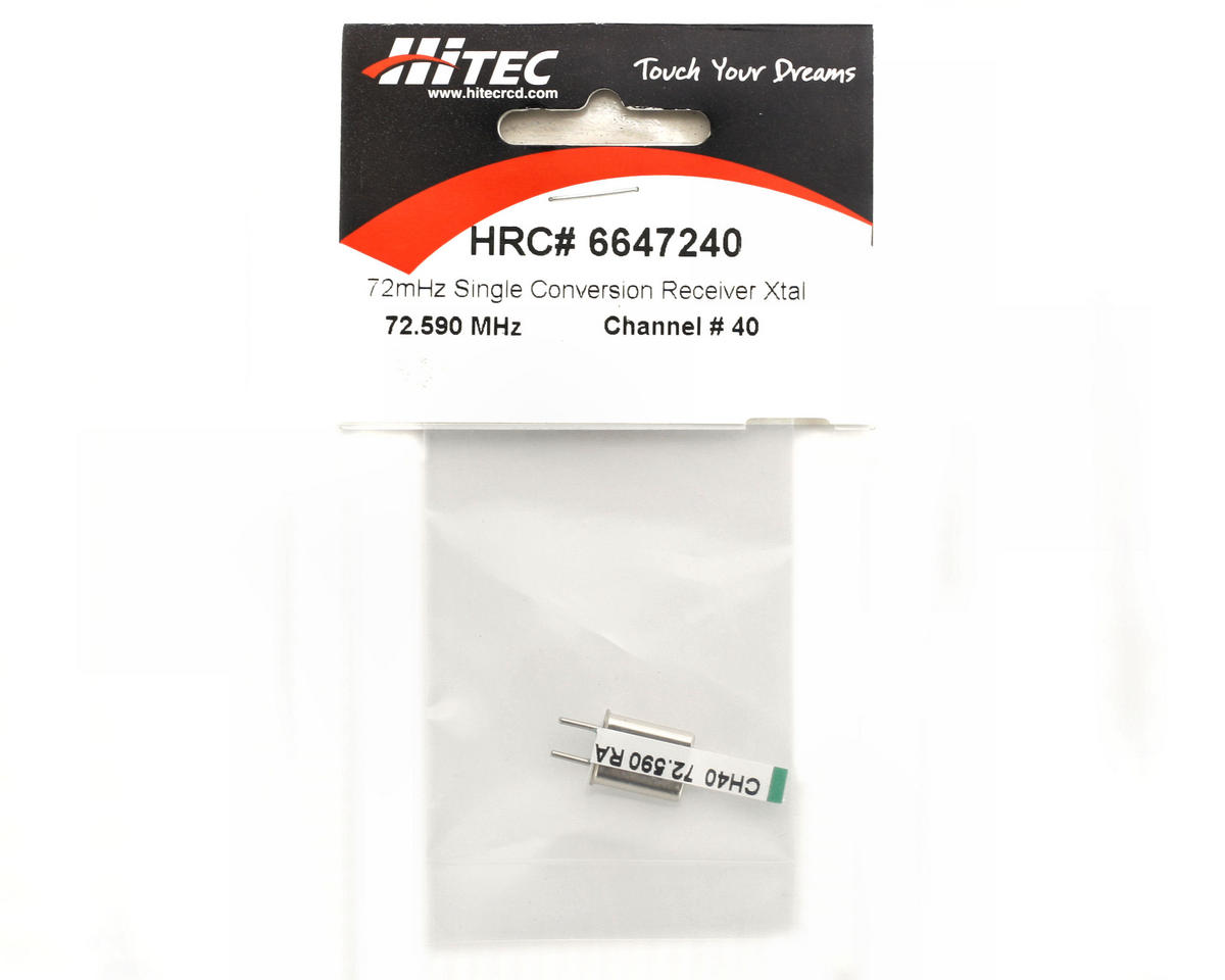 Hitec AM/FM Single Conversion Receiver Crystal Channel 40 (72.590 MHz)