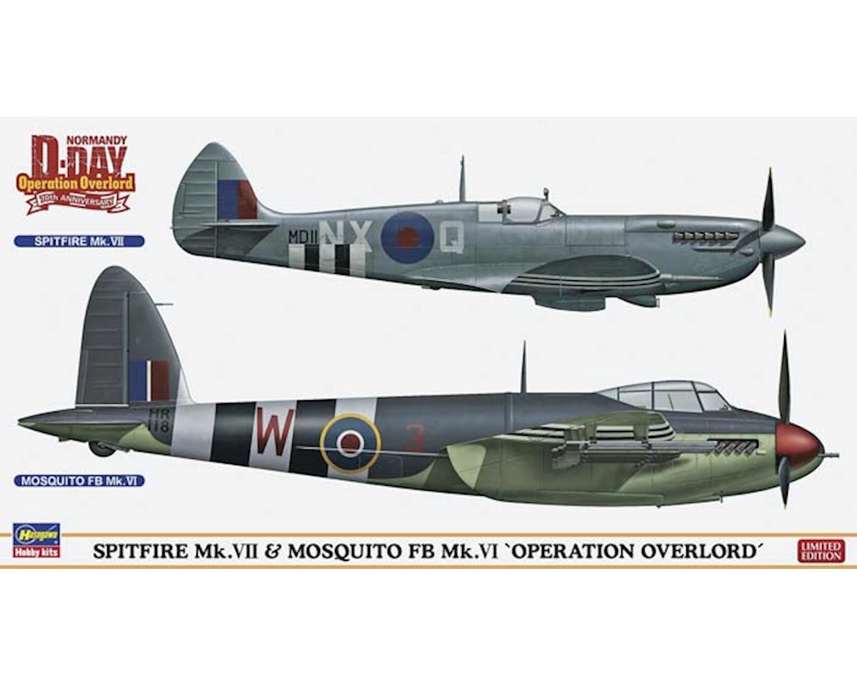 Hasegawa 02096 1/72 Spitfire MK VII & Mosquito MK VI Combo Ltd