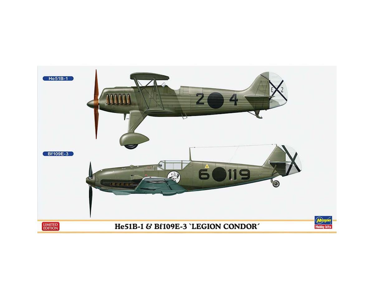Hasegawa 02197 1/72 He51B-1 & Bf109E-3 Legion Condor 2 Kits