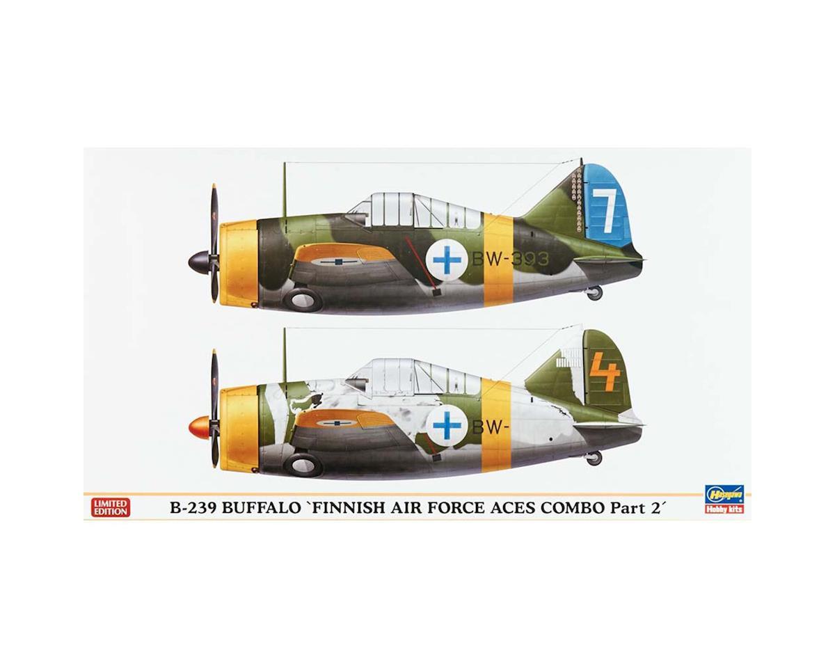 02229 1/72 B-239 Buffalo Finnish Airforce Aces 2 Kits by Hasegawa