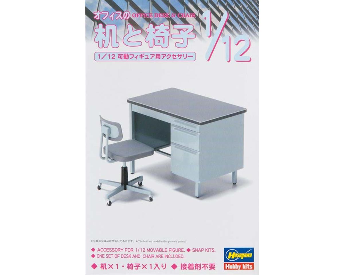 Hasegawa 62003 1/12 Office Desk & Chair