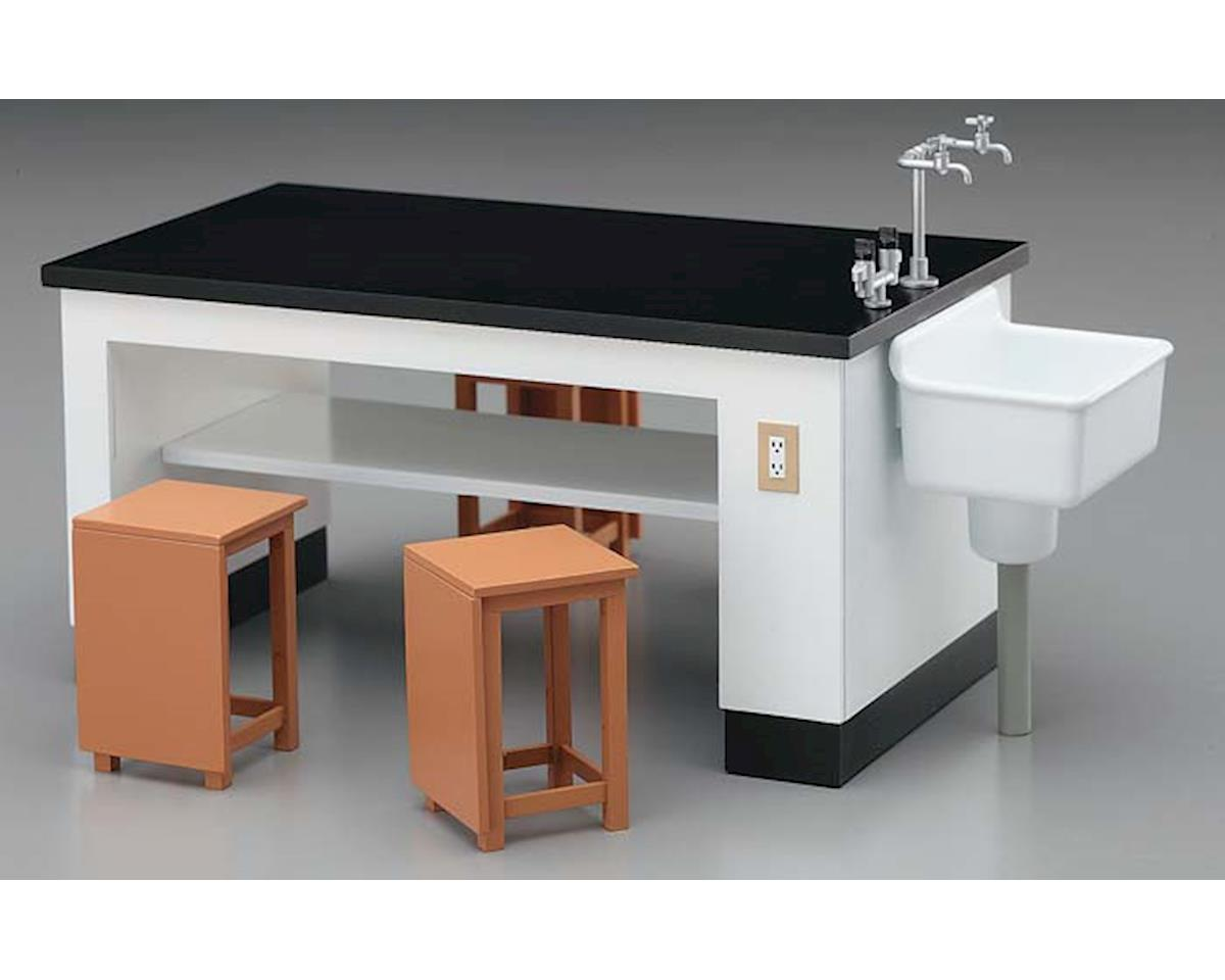62004 1/12 Science Room Desk & Chairs by Hasegawa