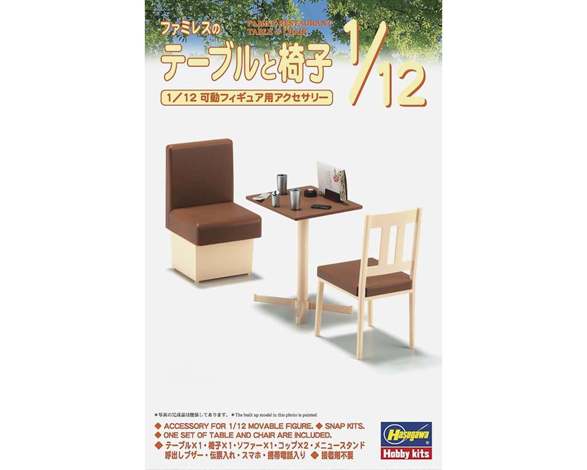 Hasegawa 62007 1/12 Family Restaurant Table/Chair