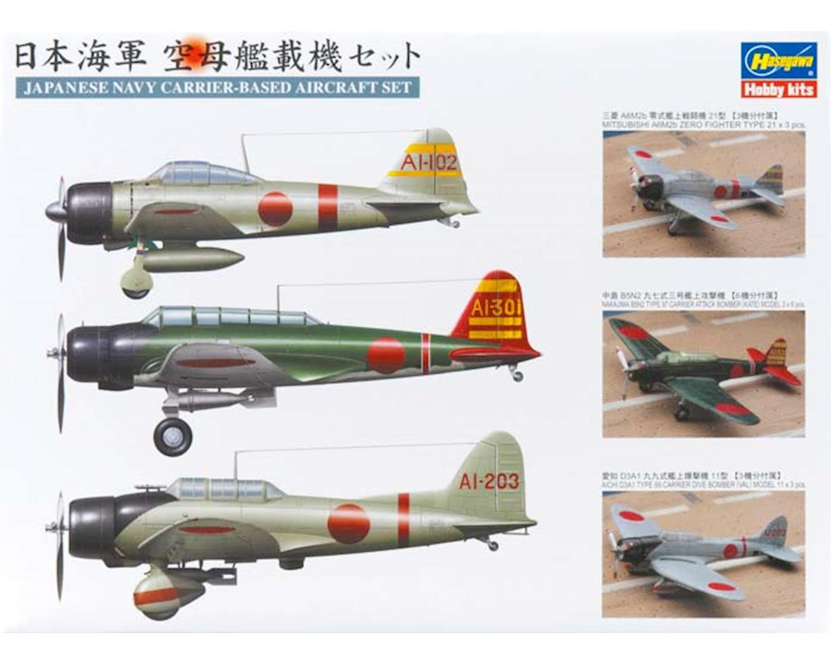 72130 1/350 Japanese Navy Carrier-Based Aircraft Set by Hasegawa