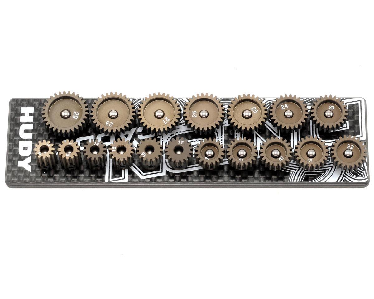 Hudy 48P Aluminum Pinions w/Caddy (12T ~ 29T) (18)