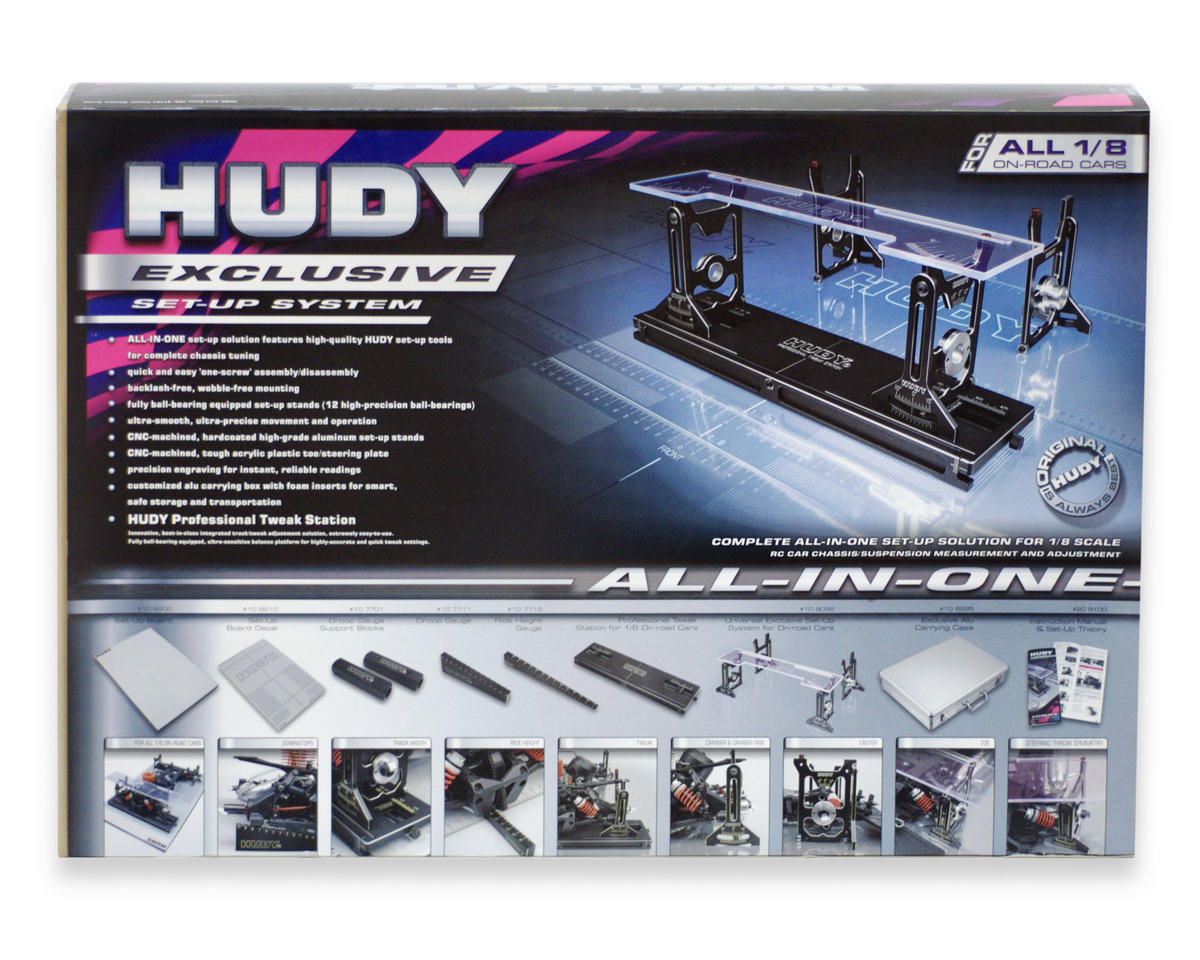 Hudy All-In-One Set up Solution for 1/8 On Road Cars