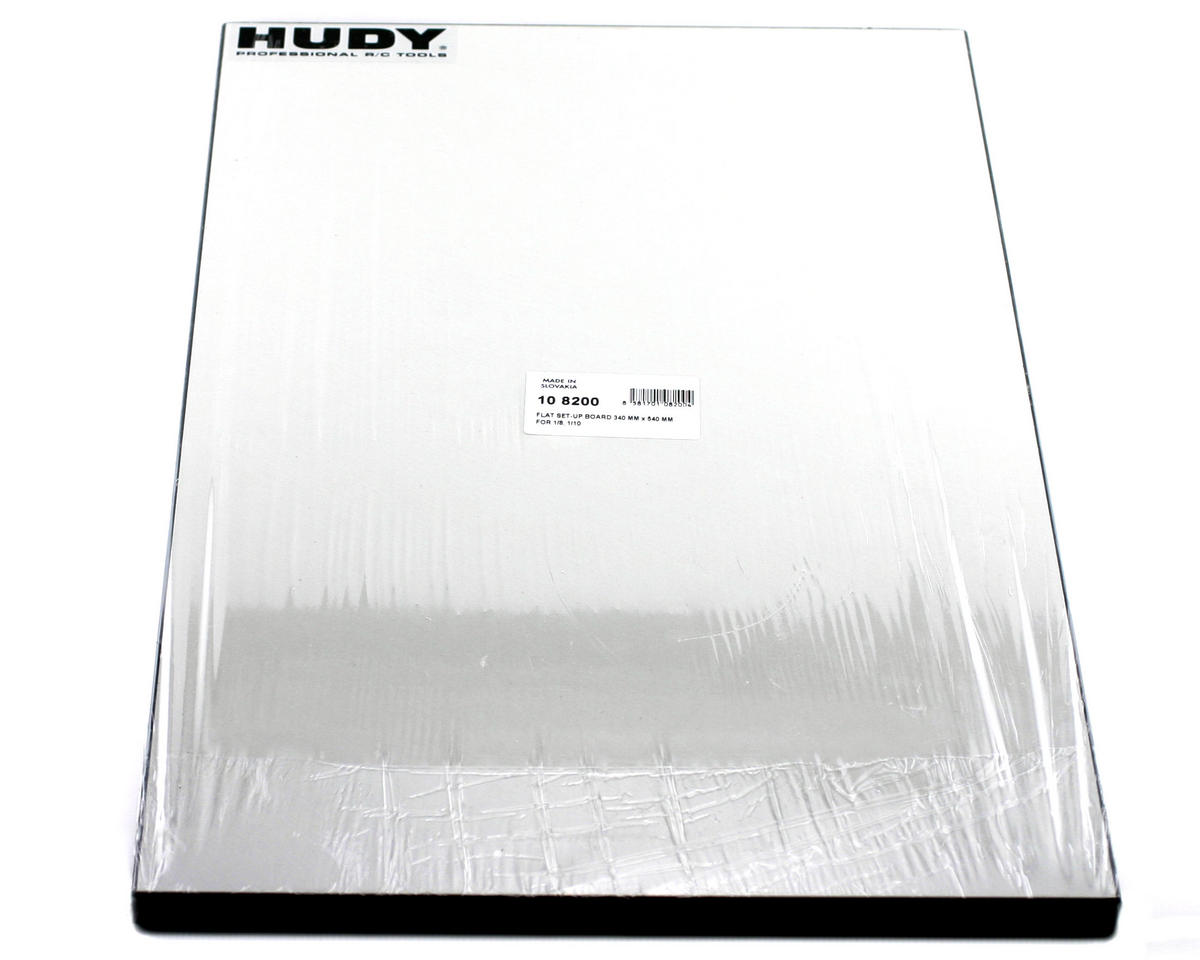 Hudy Flat Set-Up Board 340mm x 540mm For 1/8, 1/10 On Road