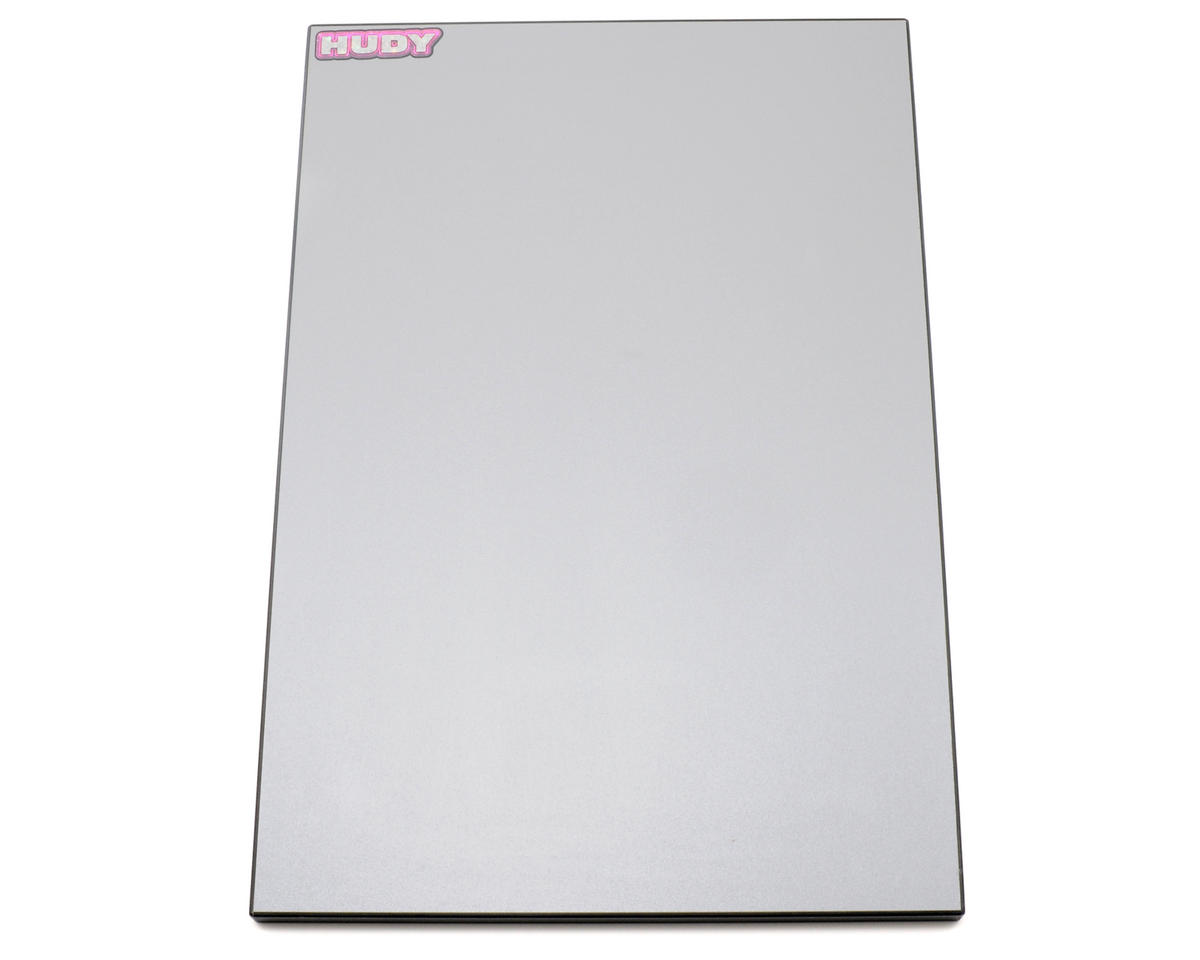 Hudy 1/10 Touring Car Set-Up Board (Silver Grey)