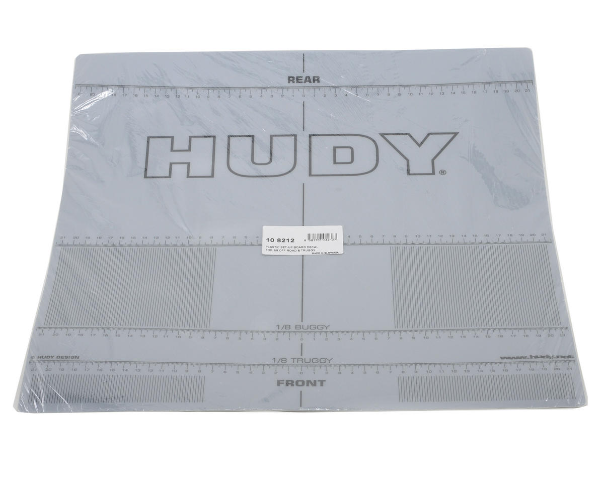 Hudy Plastic Set up Board Decal for 1/8 Off Road