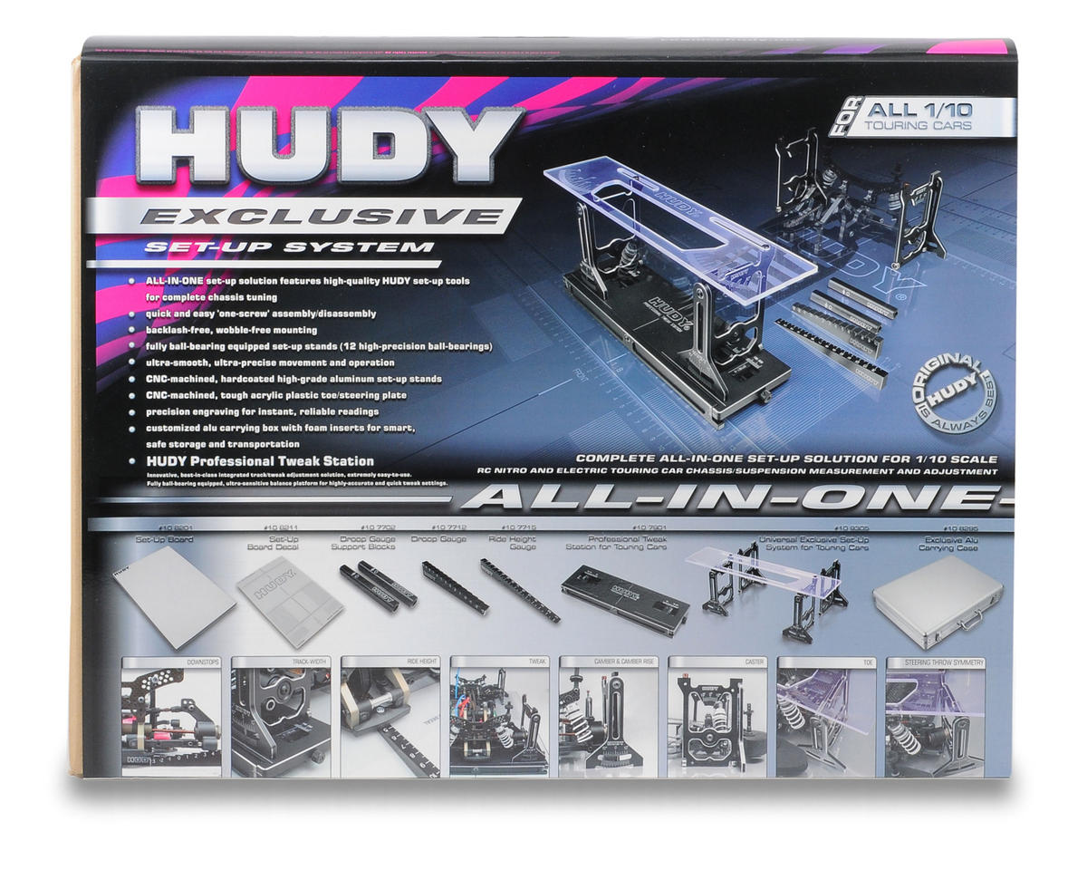 Hudy All-In-One Set-Up Solution For 1/10th Touring Cars