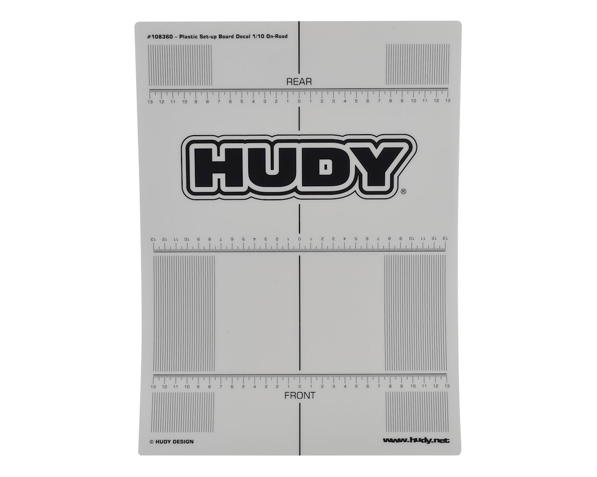 Hudy 1/10 TC Plastic Touring Car Set-Up Board Decal