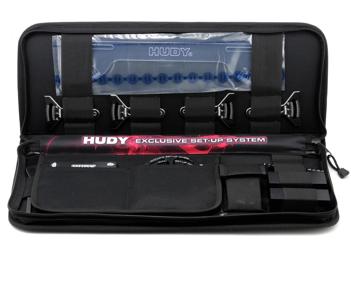Hudy Complete Set-Up Tool Set w/Carrying Bag (1/8 Off-Road)