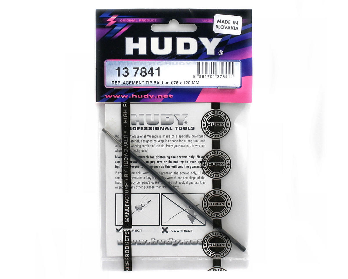 "Hudy US Standard Allen Wrench Replacement Ball Tip (5/64"" x 120mm)"