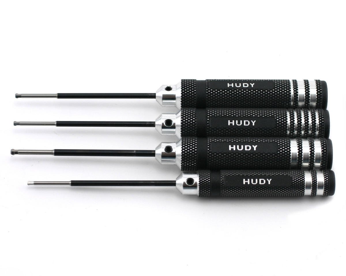 Hudy Metric/Standard Ball Hex Driver Set (4)