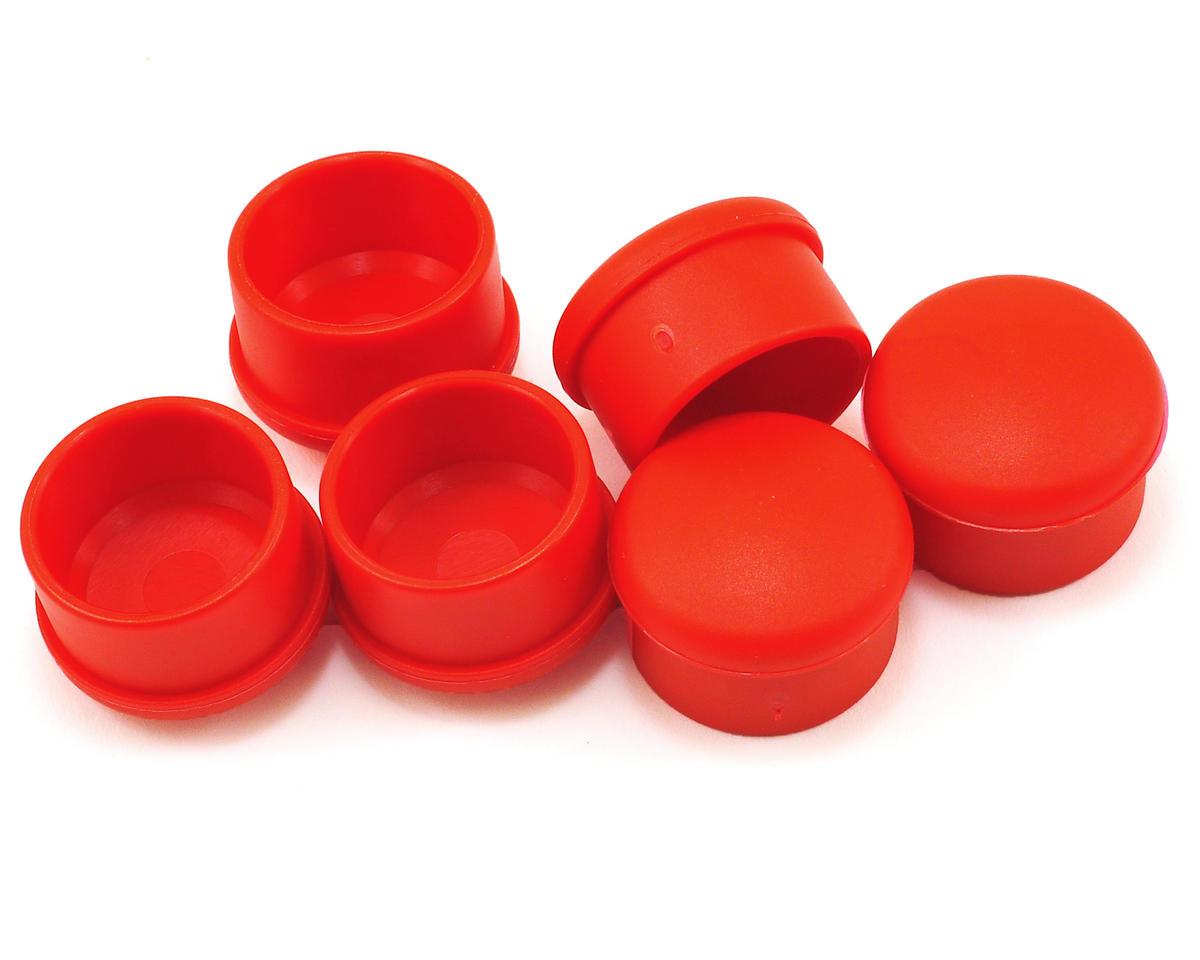 Hudy 22mm Plastic V2 Handle Cap Set (Red) (6)