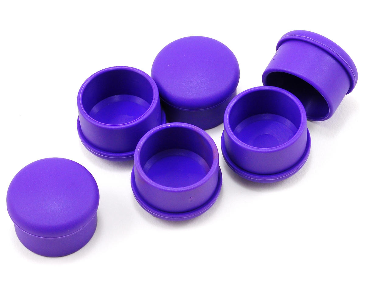 Hudy 22mm Plastic V2 Handle Cap Set (Violet) (6)
