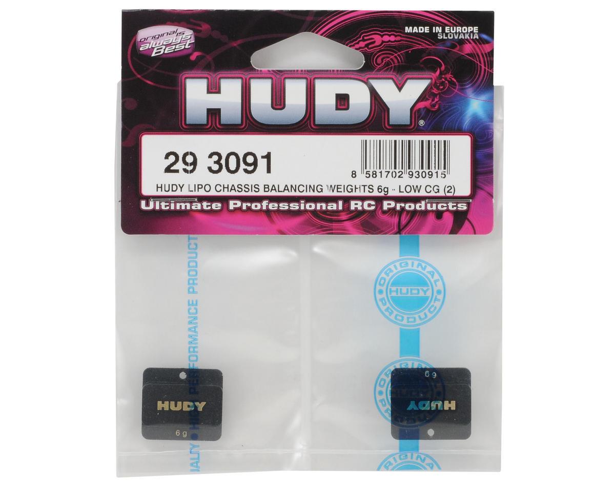 Hudy 6 Gram Low CG LiPo Chassis Balancing Weights (2)