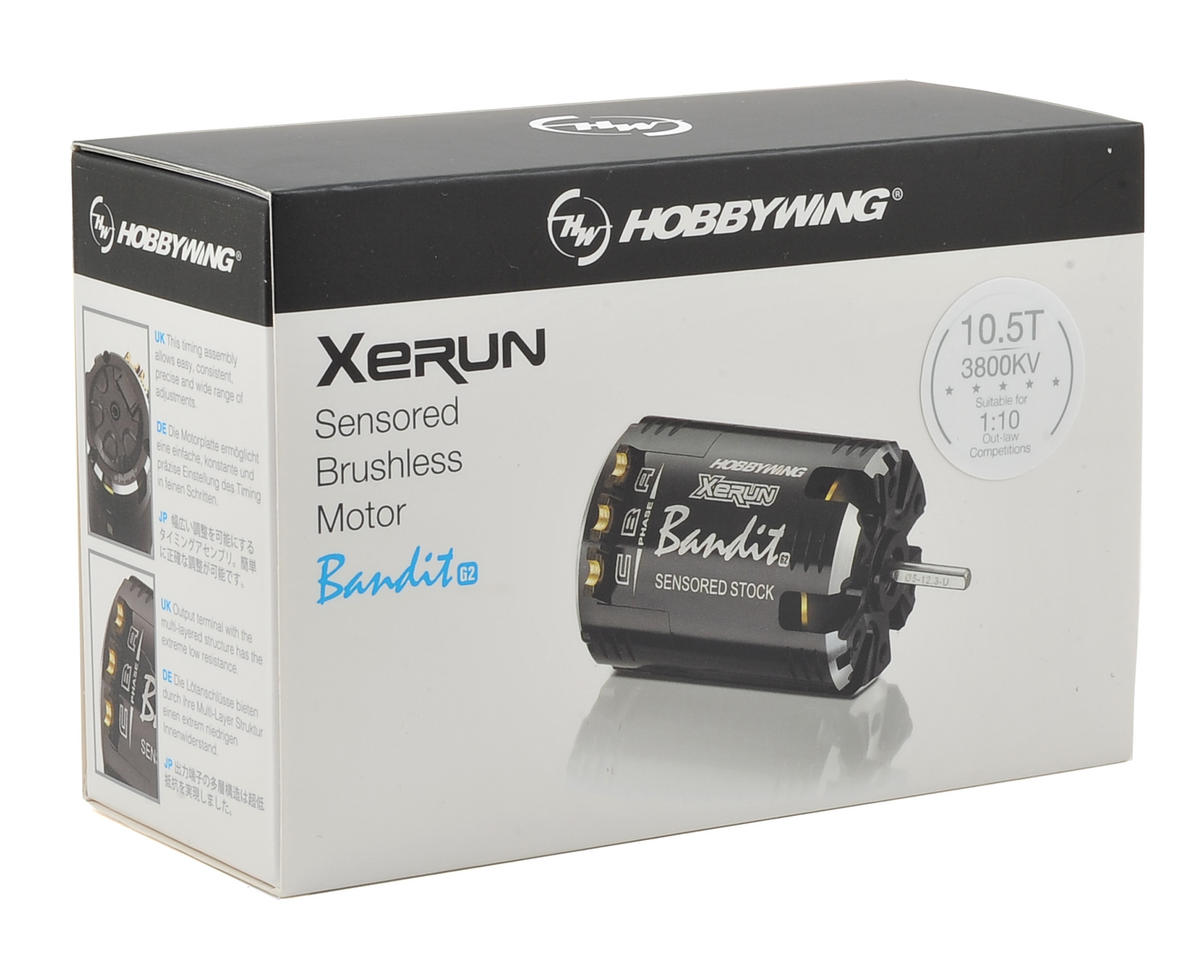 Hobbywing Xerun Bandit G2 Competition Brushless Motor (10.5T)