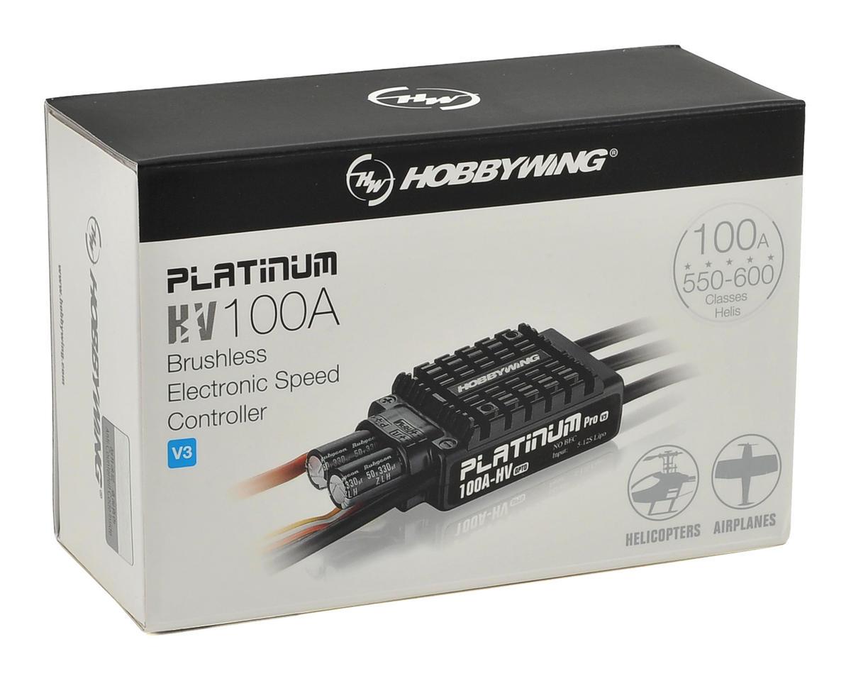 Hobbywing Platinum V3 100A-HV 100 Amp ESC [HWA30203600 ...
