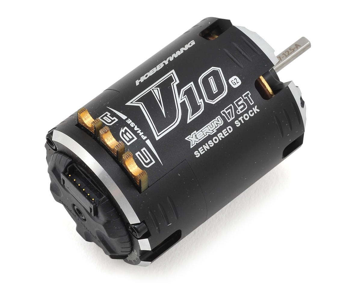 Hobbywing Xerun V10 G2 Competition Modified Brushless Motor (17.5T)