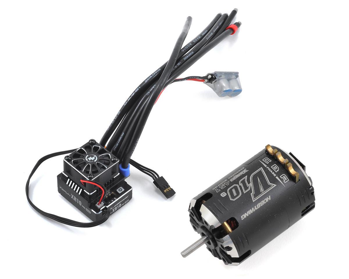 Hobbywing XR10 Pro Sensored Brushless ESC/V10 Motor Combo (4.5T)