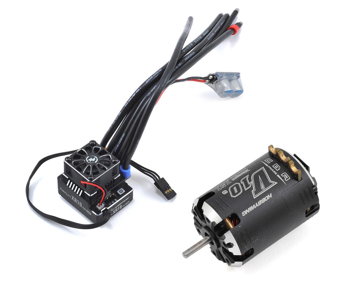 Hobbywing XR10 Pro Sensored Brushless ESC/V10 Motor Combo (7.5T)