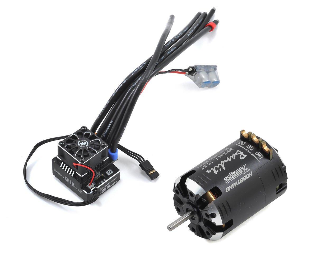 XR10 Pro Sensored Brushless ESC/Bandit Motor Combo (13.5T) by Hobbywing